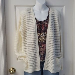 Pink Rose Open Front Cardigan